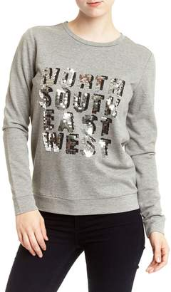 Romeo & Juliet Couture Sequins Front Sweater