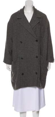 Smythe Double-Breasted Knit Coat