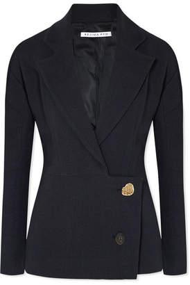 REJINA PYO - Ali Linen And Cotton-blend Blazer - Navy