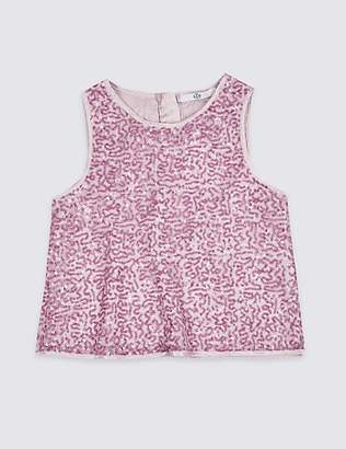 Marks and Spencer Sequin Sleeveless Top (3-16 Years)
