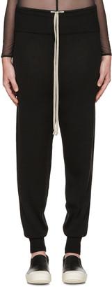 Rick Owens Black Merino Wool Lounge Pants $660 thestylecure.com