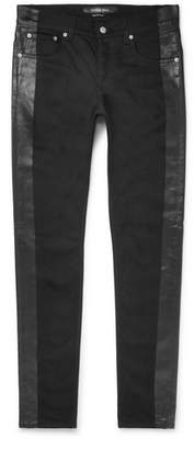 Alexander McQueen Skinny-fit Striped Stretch-cotton Jeans