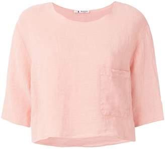 Barena chest pocket crop top