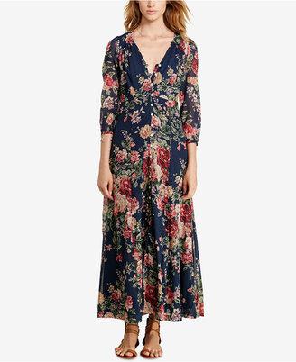 Denim & Supply Ralph Lauren Floral-Print Gauze Maxi Dress $165 thestylecure.com