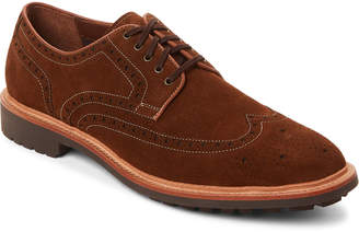 Warfield & Grand Rust Hester Wingtip Suede Derby Shoes