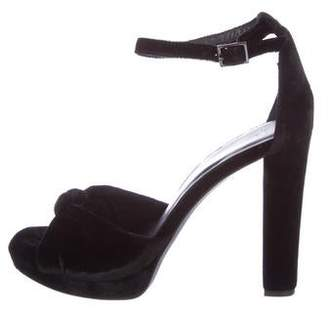 Joie Velvet Ankle Strap Sandals w/ Tags