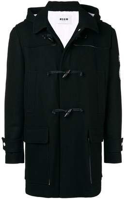 MSGM hooded duffle coat