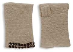 Portolano Embellished Cashmere Fingerless Gloves