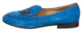 Del Toro Suede Tassel Smoking Slippers