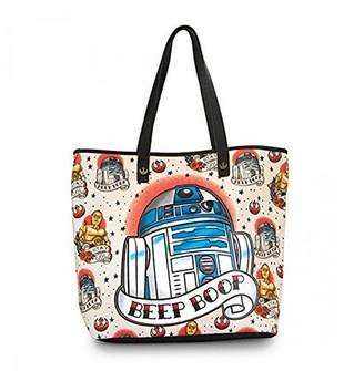 Loungefly womens Star Wars R2D2 Beep Boop Tote Bag Standard