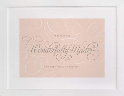 Wonderfully Made Nursery Custom Art Print