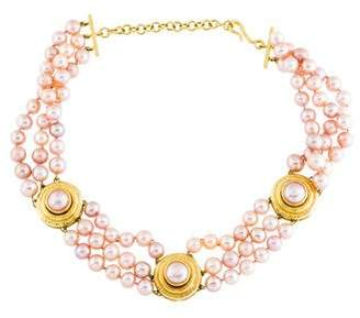 Elizabeth Locke 18K Pearl Multistrand Necklace