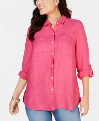 Charter Club Linen Button-Front Shirt