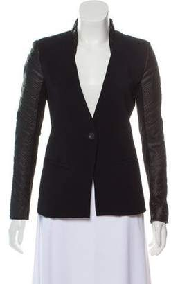 Helmut Lang Wool-Blend Leather-Paneled Jacket