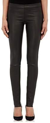 The Row Women's Essentials Stretch-Leather Leggings - Black