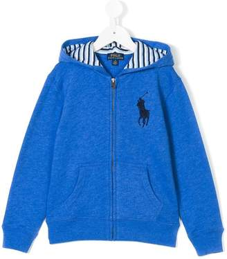 Ralph Lauren logo embroidered hooded jacket