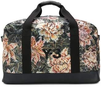 Y-3 camouflage floral weekender bag