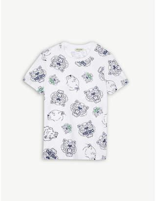 Kenzo Tiger cotton T-shirt 4-16 years