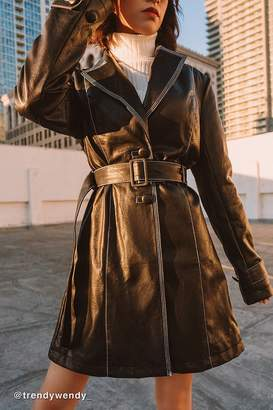 Urban Outfitters Irina Faux Leather Trench Coat