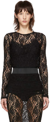 Dolce & Gabbana Black Lace Sweater