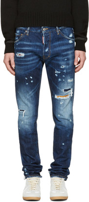 Dsquared2 Blue Cool Guy Jeans $795 thestylecure.com
