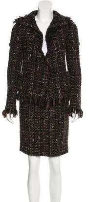 Chanel Fringe Tweed Skirt Suit