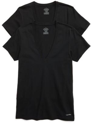 Men's Calvin Klein 2-Pack V-Neck T-Shirt $42.50 thestylecure.com
