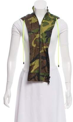 Veronica Beard Hooded Camouflage Dickie