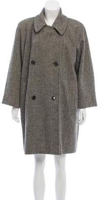Luciano Barbera Herringbone Wool-Blend Coat
