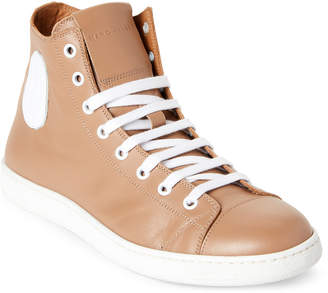 Marc Jacobs Tan & White Leather High-Top Sneakers