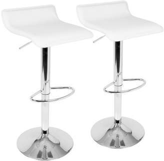 Wade Logan Camargo Adjustable Height Swivel Bar Stool