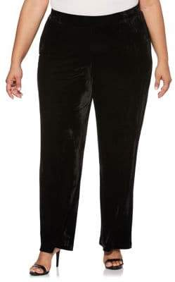 Rafaella Plus Velvet Straight Leg Pants