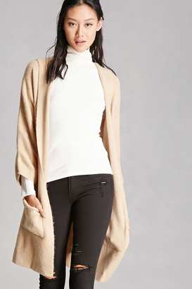 FOREVER 21+ Longline Hooded Cardigan $45 thestylecure.com