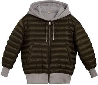 Burberry reversible hooded bomber jacket
