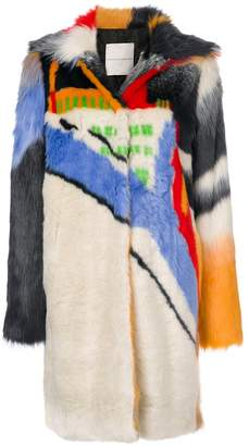 Marco De Vincenzo colour-block coat