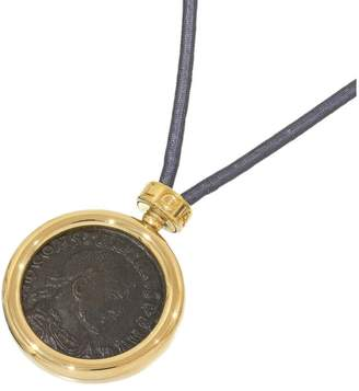 Bulgari 18K Yellow Gold Ancient Coin Monete Chocker Code Necklace