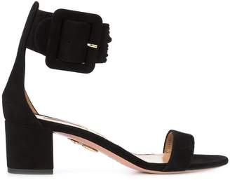 Aquazzura oversized buckle sandals