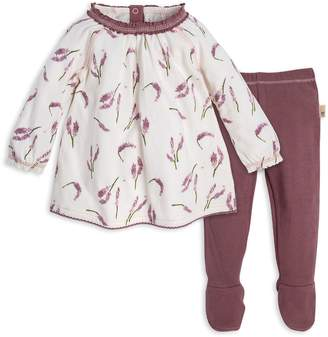 Burt's Bees Lavender Fields Organic Baby Tunic & Thermal Footed Pant Set