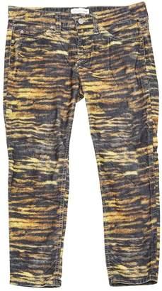 Etoile Isabel Marant Yellow Velvet Trousers