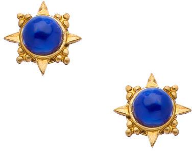 Lapis Blydesign Brass And Starburst Stud Earrings