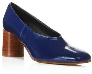 Creatures of Comfort Women's Dina Square-Toe Block-Heel Patent Leather Pumps