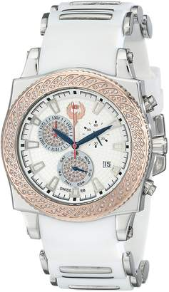 Brillier Men's 01.4.3.4.13.2 Chronograph Method Air Two-Tone White Rubber Watch