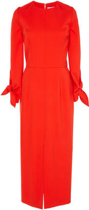 Carolina Herrera Long Sleeve Sheath Dress