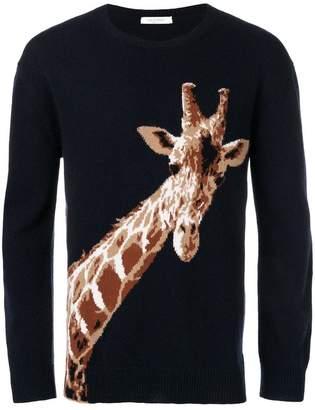 Valentino giraffe intarsia knit sweater