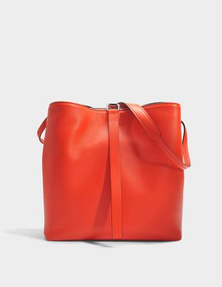 Proenza Schouler Frame Shoulder Bag in Hot Coral and Black Nappa Leather