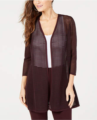 Alfani Illusion-Stripe Cardigan