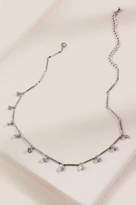 francesca's Adele Cubic Zirconia Link Choker - Silver