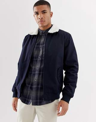 French Connection Harrington Fleece Collar Jacket