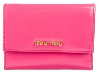 Miu Miu Smooth Leather Compact Wallet