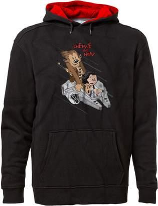 Star Wars BSW Unisex Chewie & Han Calvin & Hobbes Premium Hoodie LRG Blk/Red